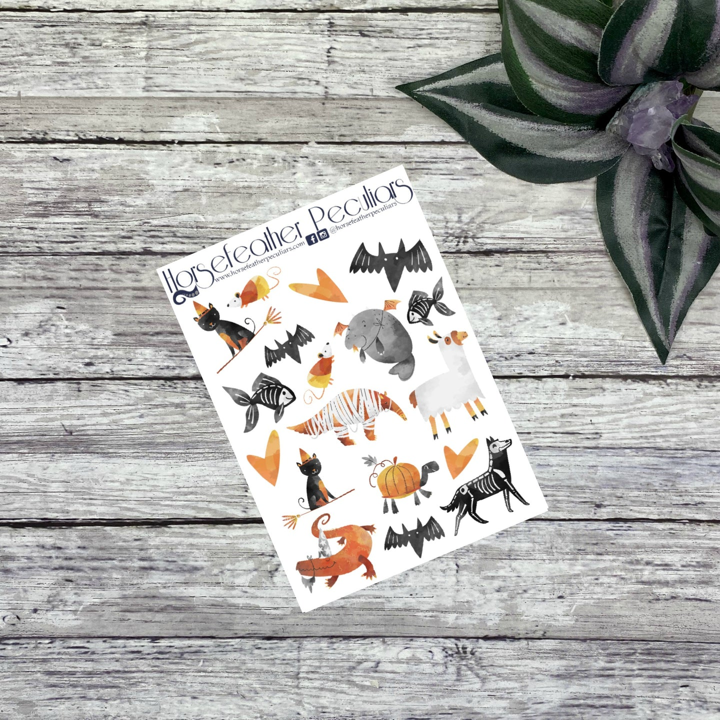 Halloween Animals Deco Planner Stickers