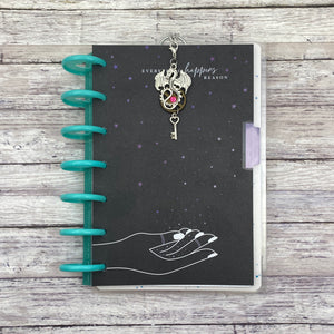 Crystal Steampunk Dragon Planner Charm