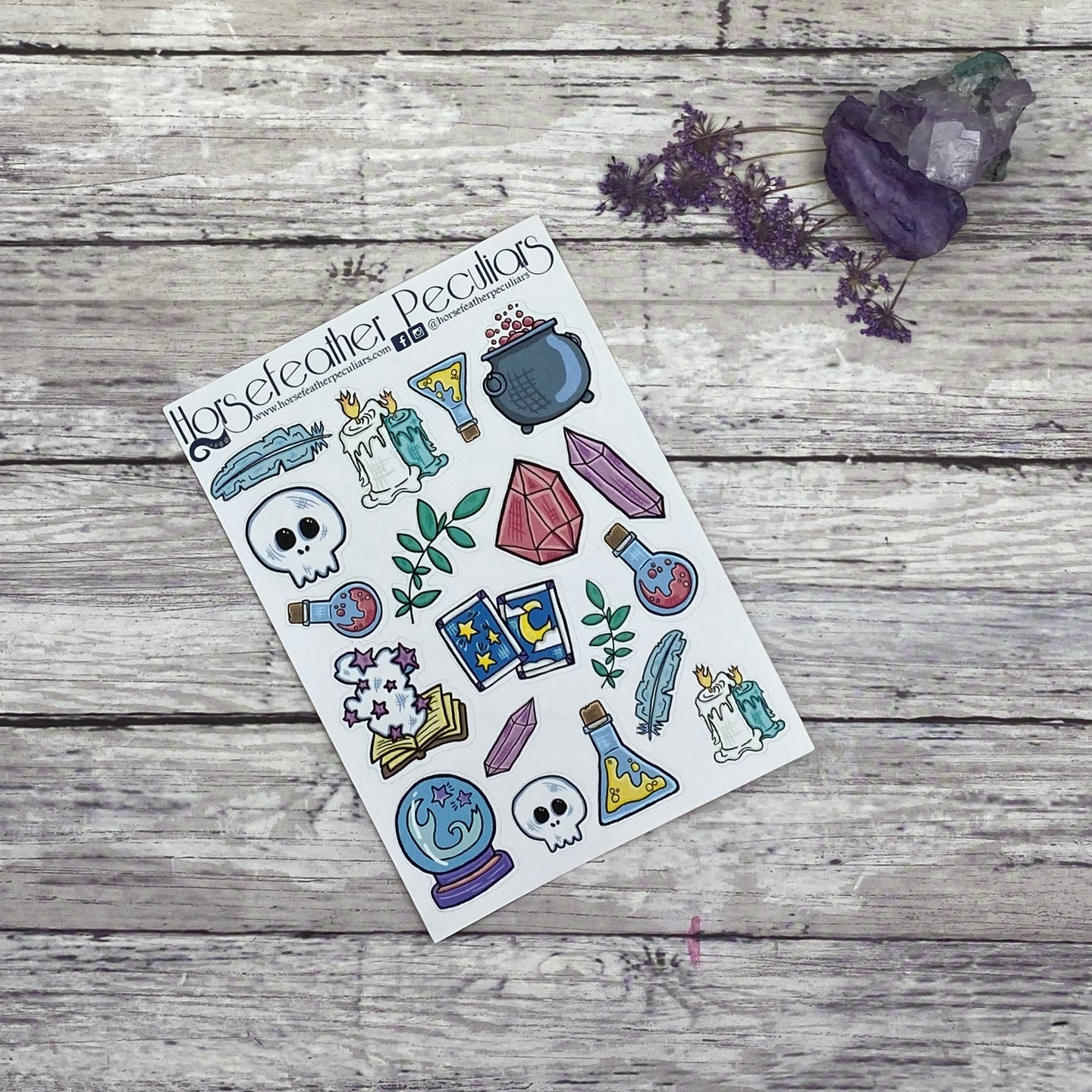 Spells and Hexes Planner Stickers