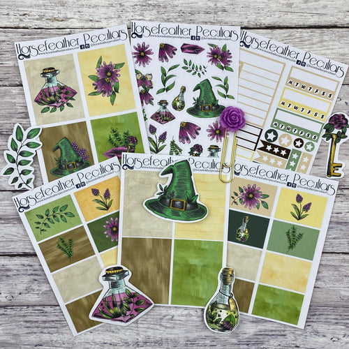 Glitch Green Witch Planner Sticker Kit Loot Bag 1