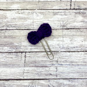 Crochet Planner Bow Paperclip