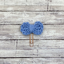 Load image into Gallery viewer, Large Crochet Planner Bow Paperclip