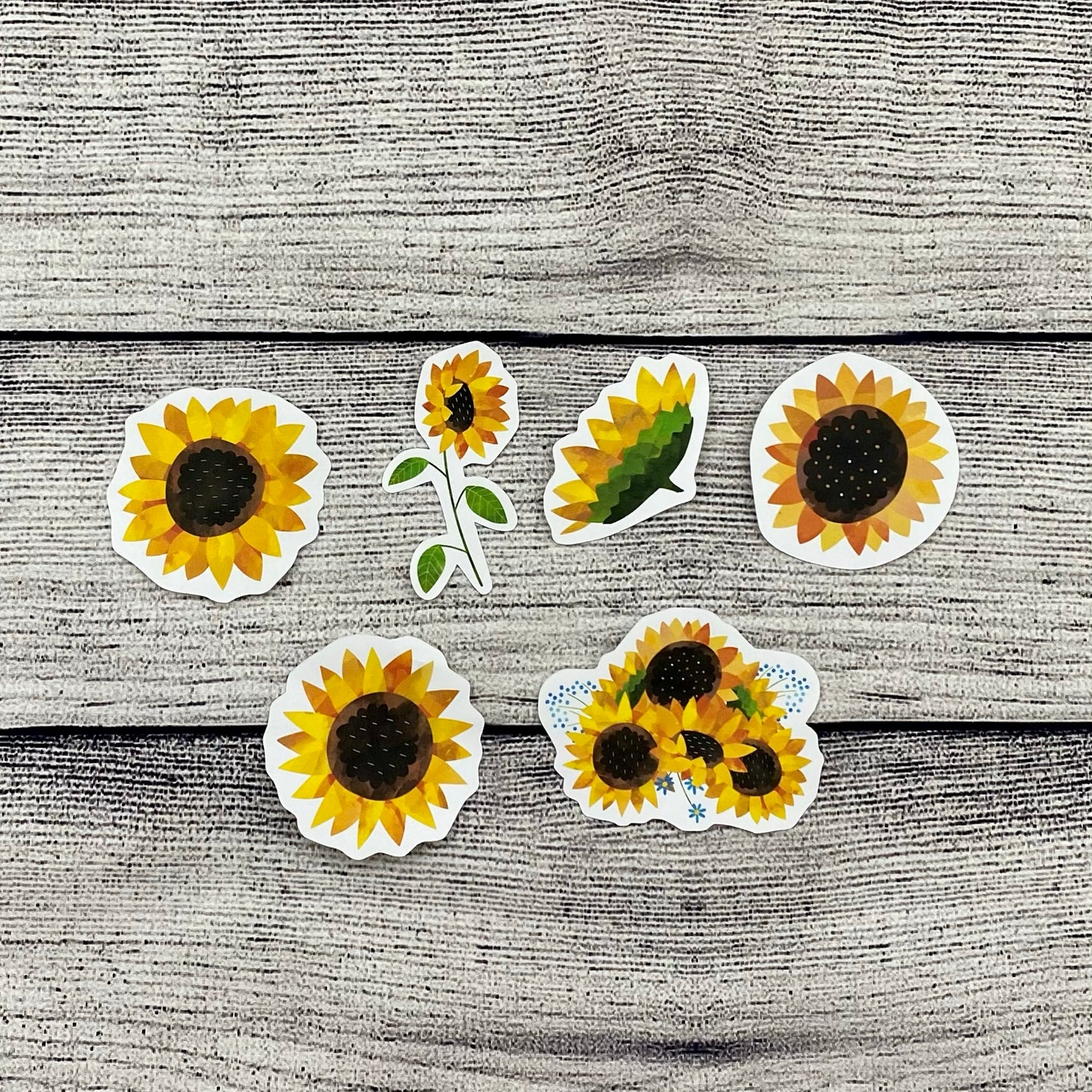Sunflower Diecut Stickers