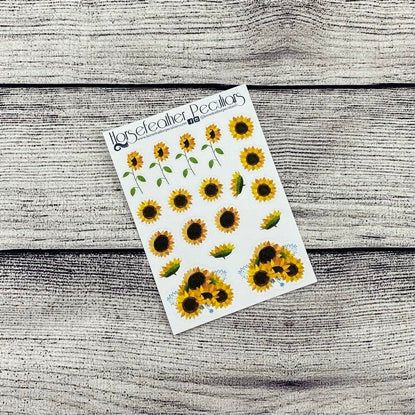 Sunflower Deco Planner Stickers