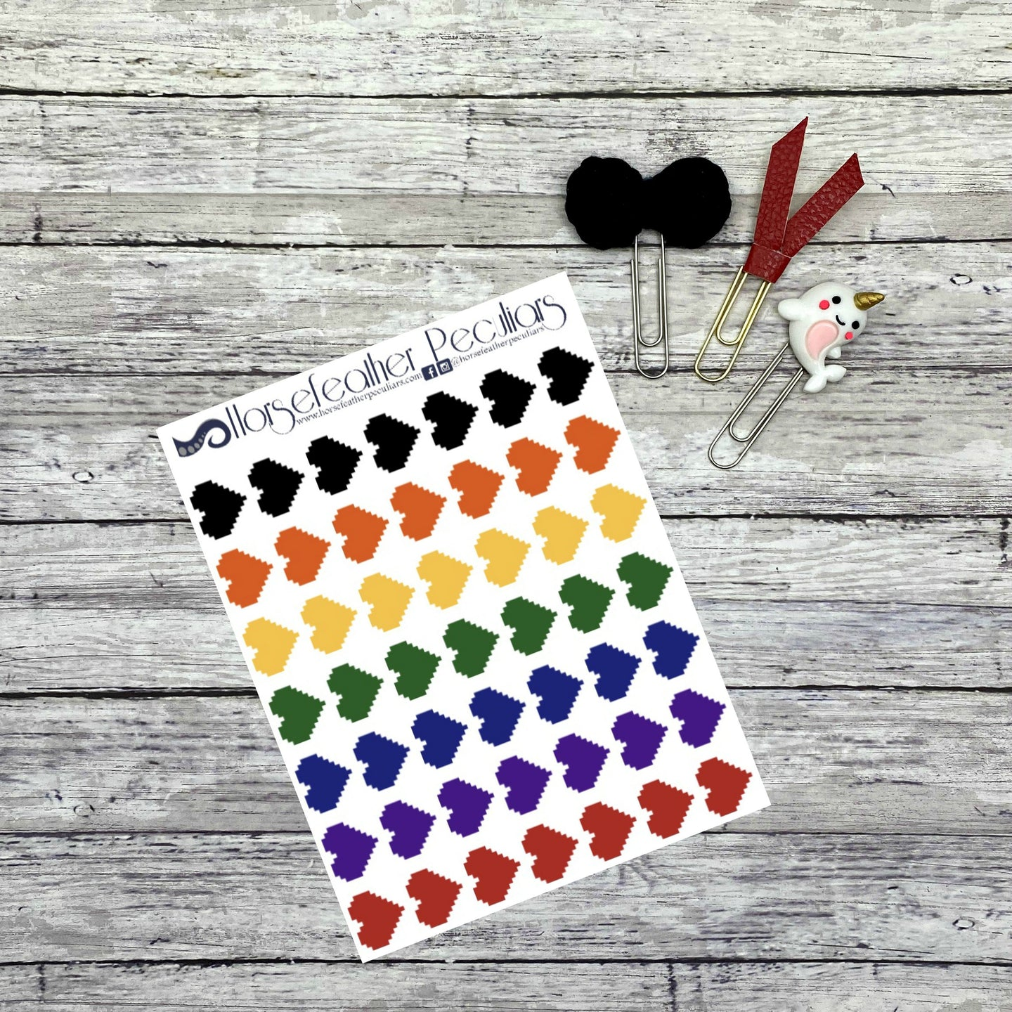 Pixel Game Heart Planner Stickers