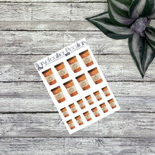 Load image into Gallery viewer, Pumpkin Coffee Cups Deco Planner Stickers