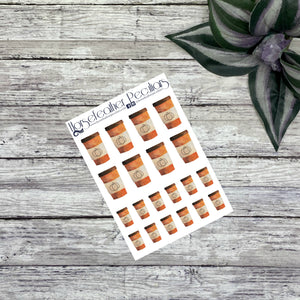 Pumpkin Coffee Cups Deco Planner Stickers