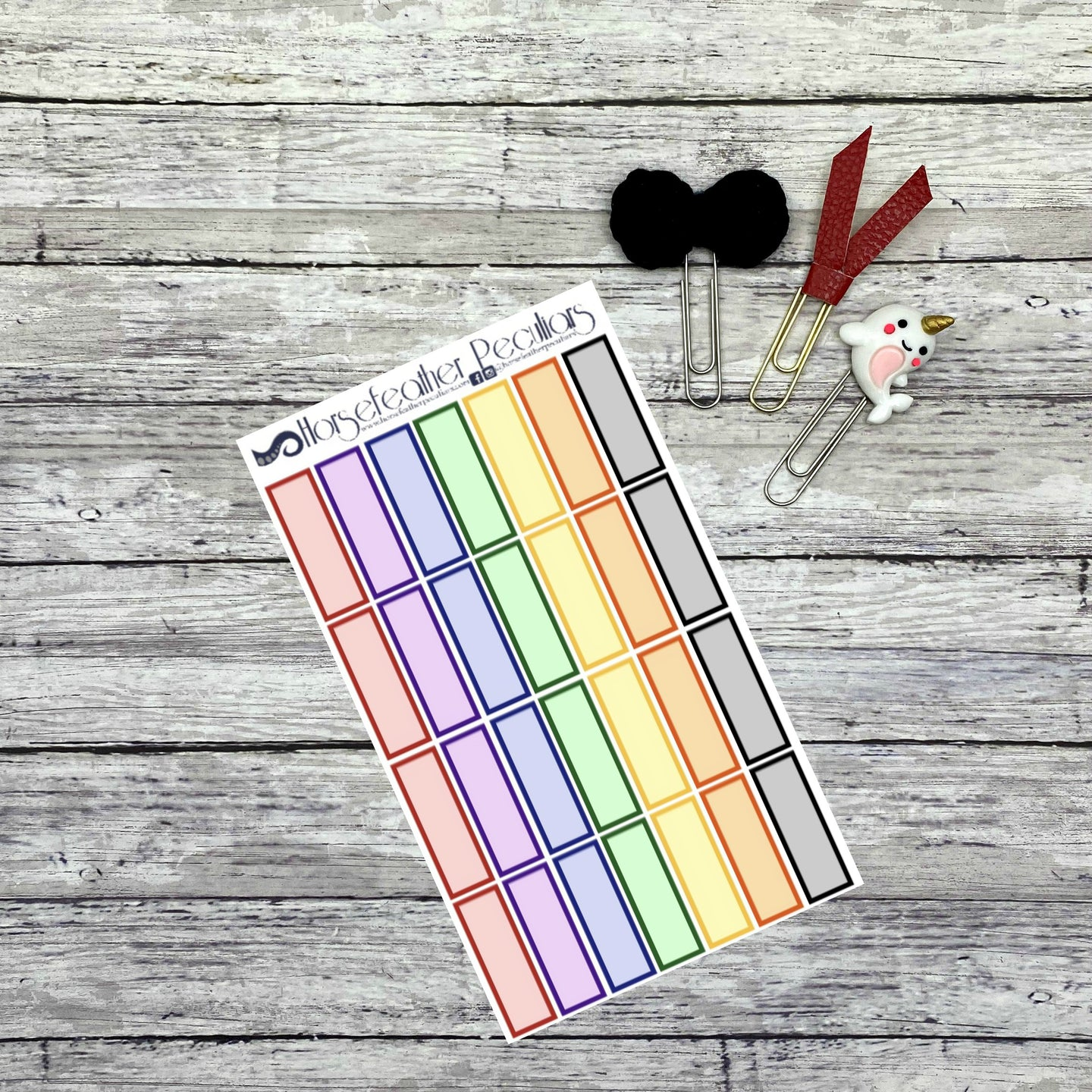 Quarter Box Functional Planner Stickers