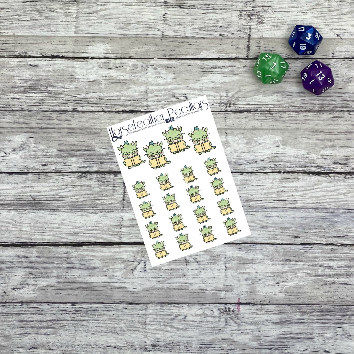 Reading Dragons Planner Stickers