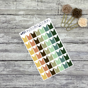 Small Flag Planner Stickers