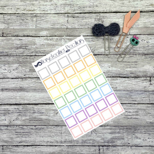 Square Outline Functional Planner Stickers