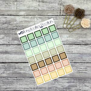 Square Functional Planner Stickers