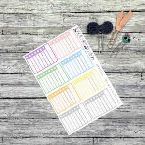 Weekly Checkbox Planner Stickers