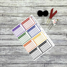 Load image into Gallery viewer, Weekly Checkbox Planner Stickers