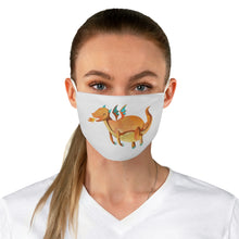 Load image into Gallery viewer, Orange Dragon Fabric Face Mask