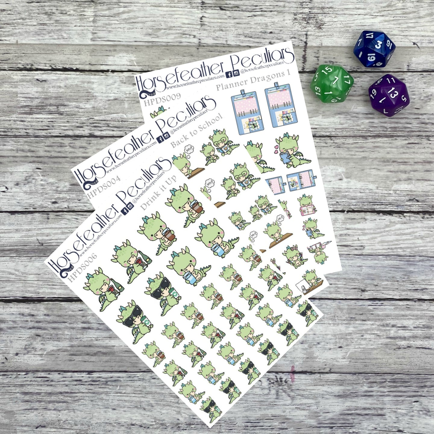 Back to School Dragon Planner Stickers Bundle