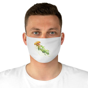 Yellow Jellyfish Fabric Face Mask