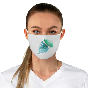 Teal Jellyfish Fabric Face Mask