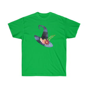 Watercolor Witch Hat Unisex Gildan Tee