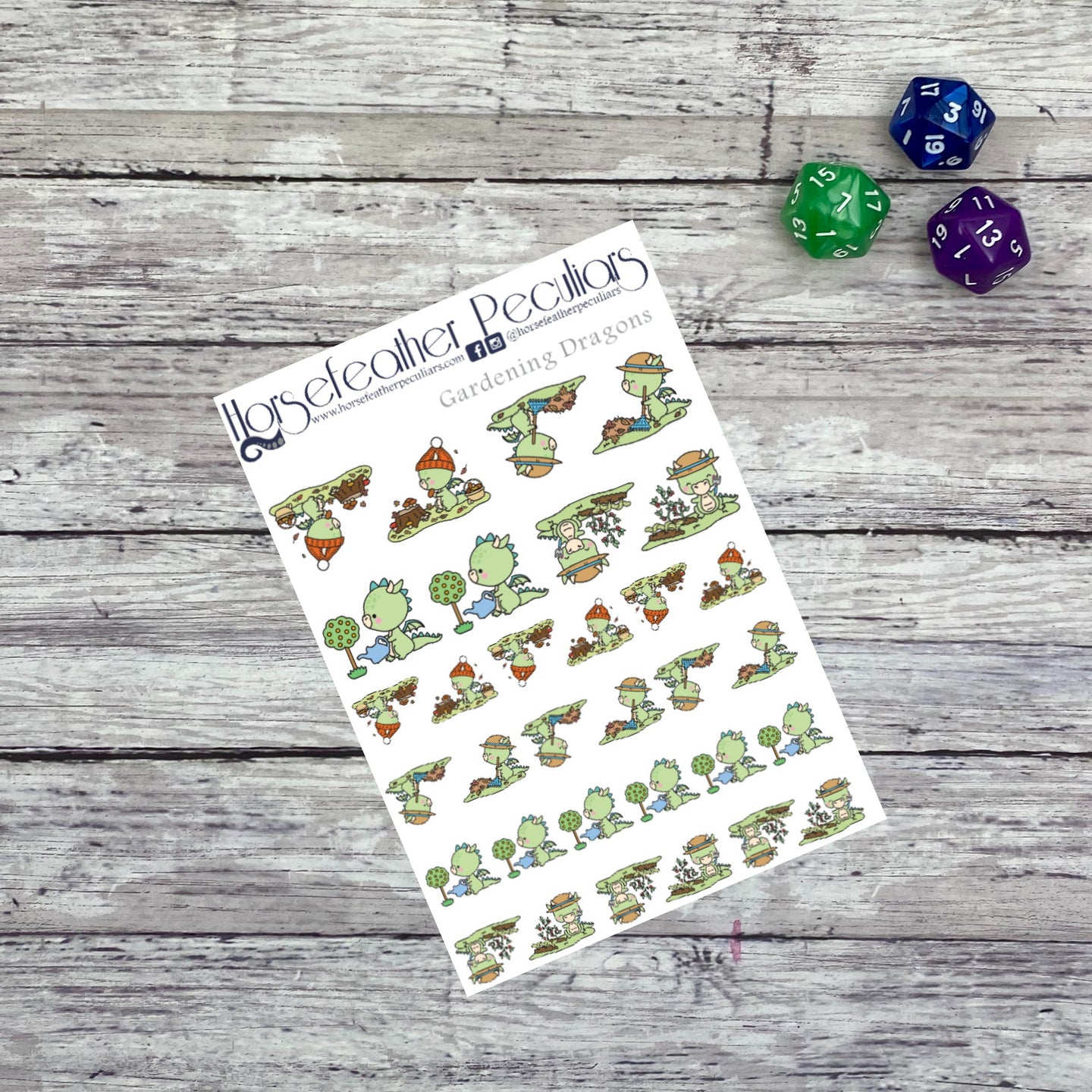 Gardening Dragon Planner Stickers