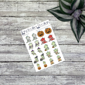 Halloween Dragon Planner Stickers