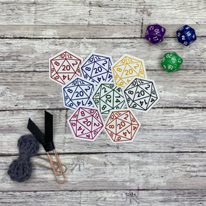D20 Die Cut Planner Stickers