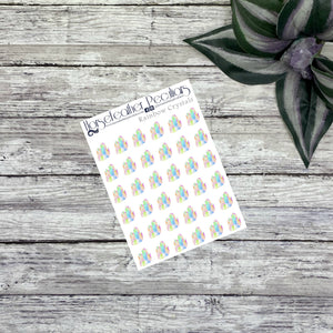 Rainbow Crystal Cluster Planner Stickers
