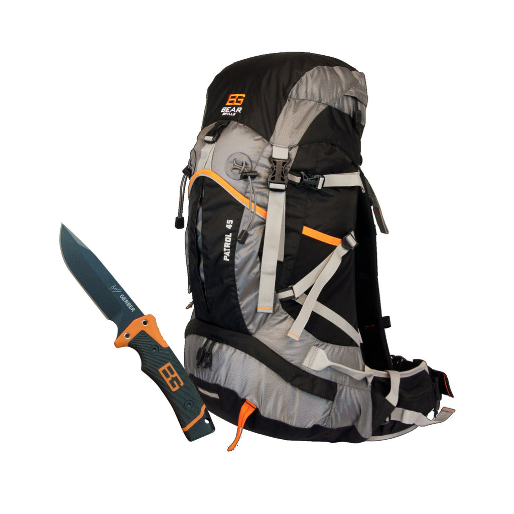 45 Patrol Backpack and Ultimate knife Straight edge (straight blade)