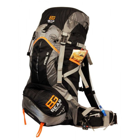 Bear Grylls 45L Patrol Backpack + FREE Exxel Outdoors Adult Sleeping Bag