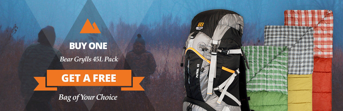 Buy a Bear Grylls Backpack Get a Sleeping Bag Free