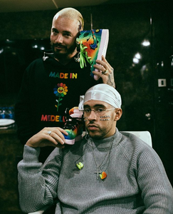 J Balvin Displays Rainbow Air Jordan 1