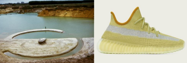 Yeezy 350 V2 Marsh - A Robert Smithson Reference?