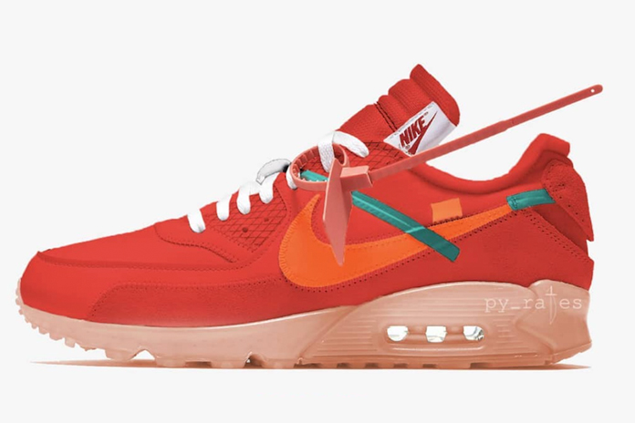 Off White X Nike Air Max 90 University Red Summer Release