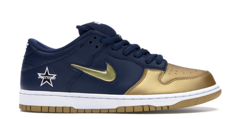 Nike SB Dunk Low Supreme Jewel Swoosh Gold - League Above