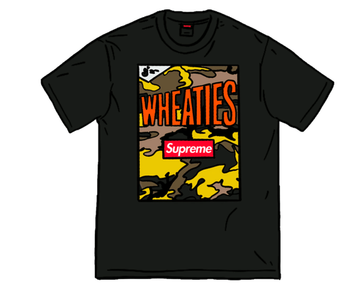 Supreme Wheaties Tee Black - League Above