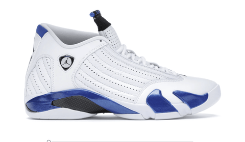 Jordan 14 Retro White Hyper Royal - League Above