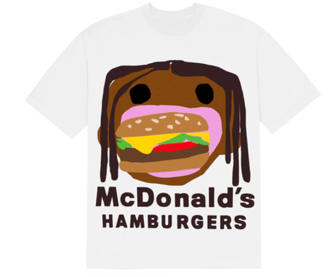 Travis Scott x CPFM 4 CJ Burger Mouth T-Shirt White - League Above