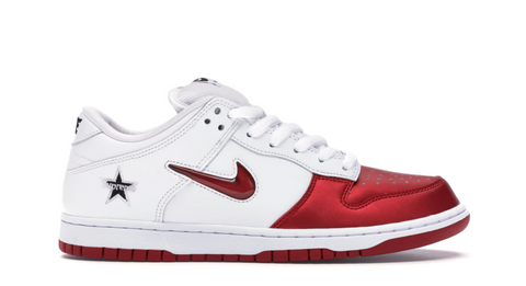 Nike SB Dunk Low Supreme Jewel Swoosh Red - League Above