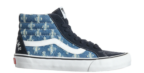 Vans Sk8-Hi Supreme Hole Punch Denim Blue - League Above