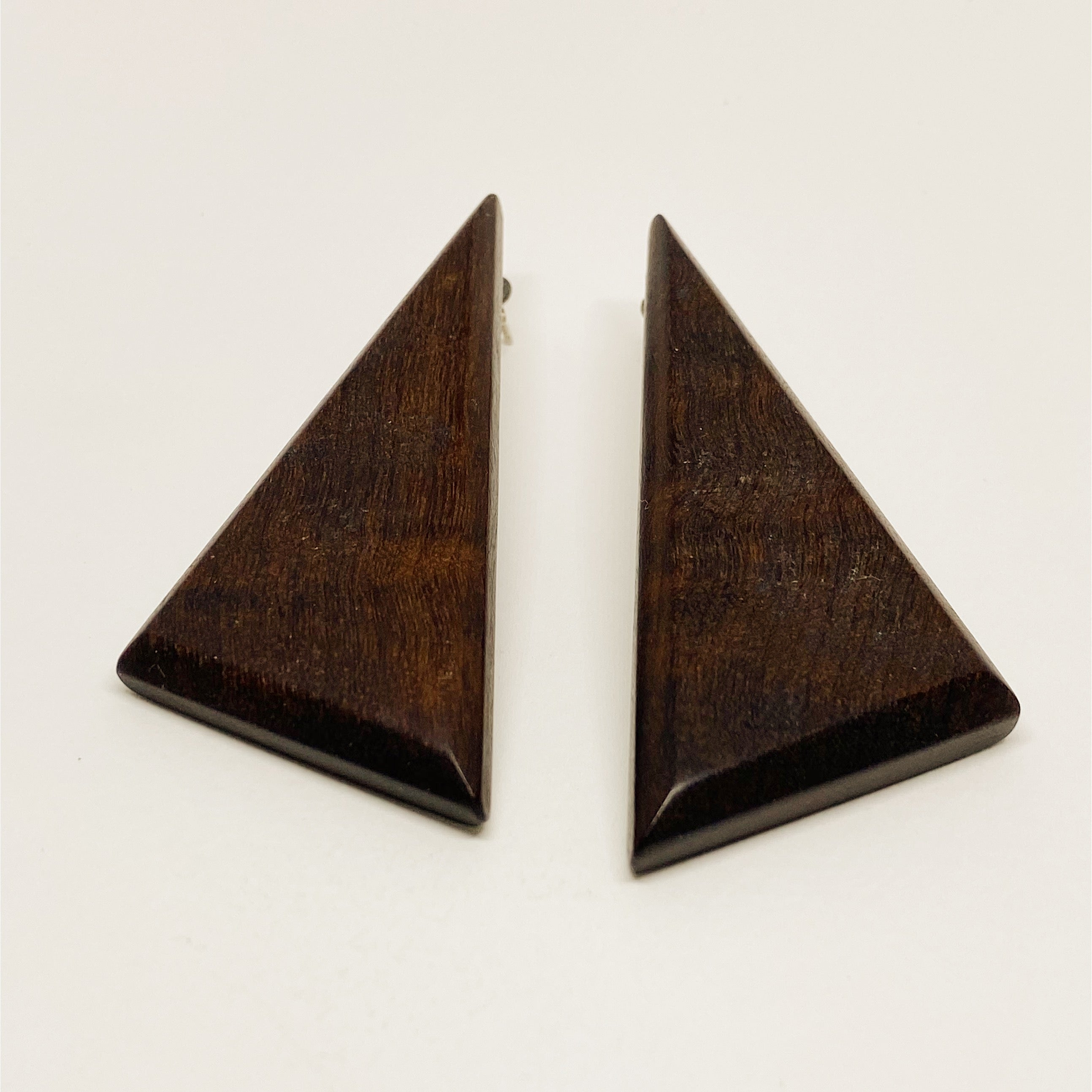 Large Triangles | Wooden Earrings