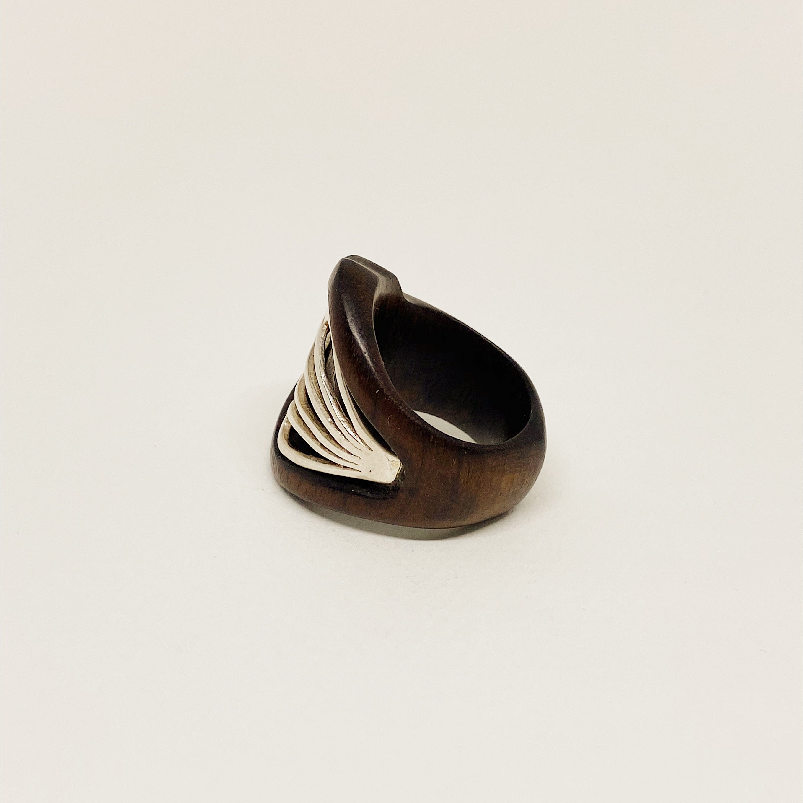 Silver Shell | Wooden Ring