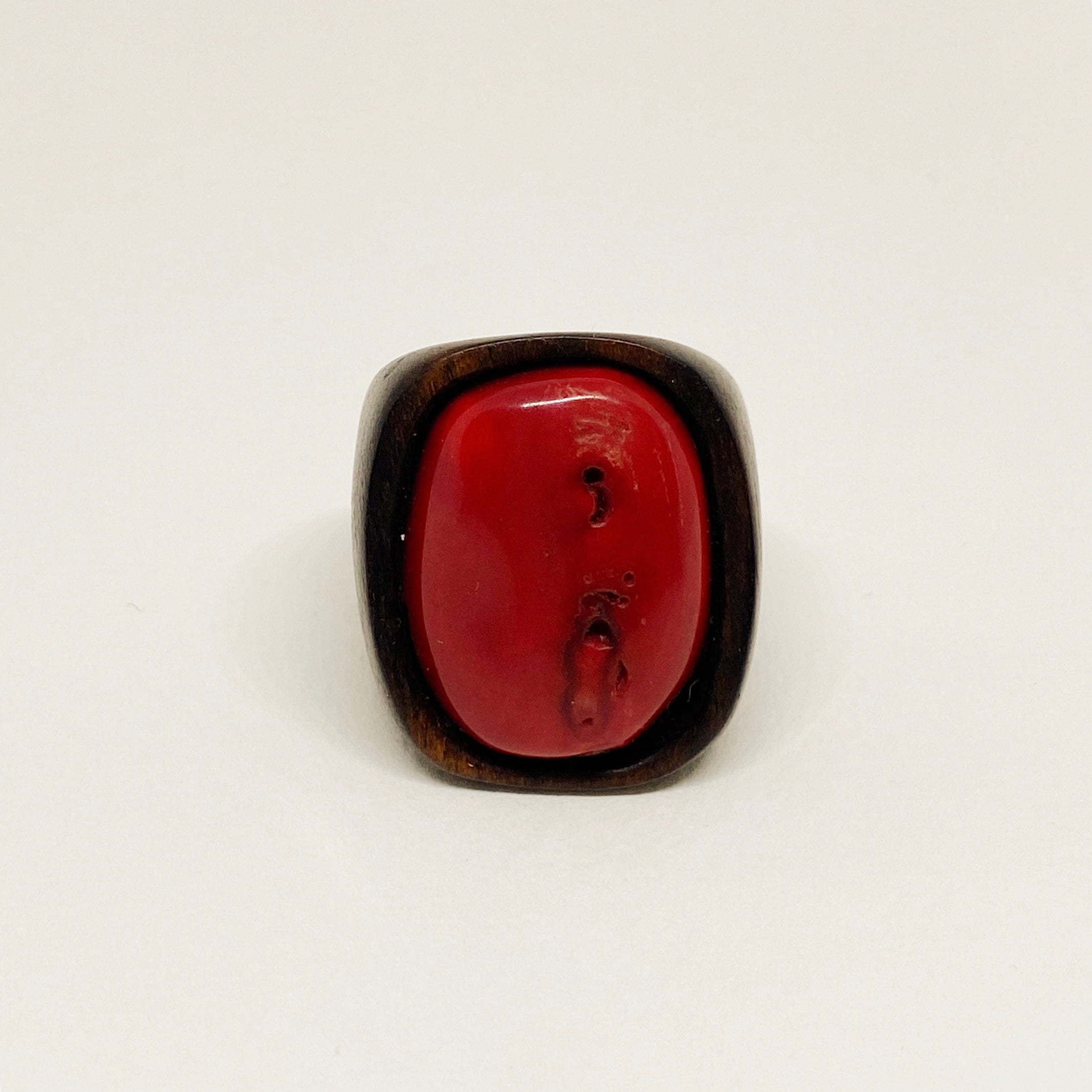 Red Coral | Wooden Ring
