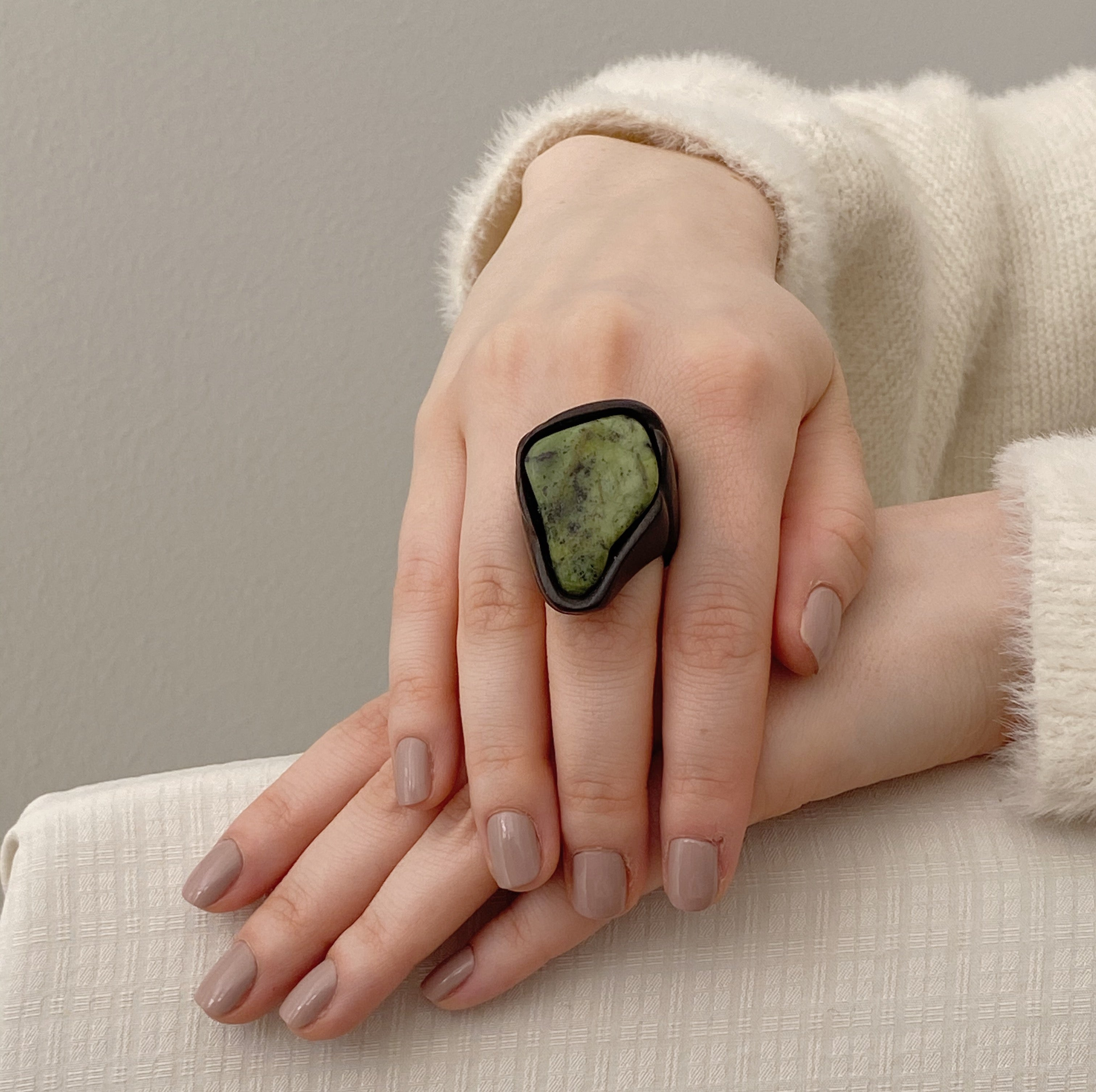 Green Unakite | Wooden Ring