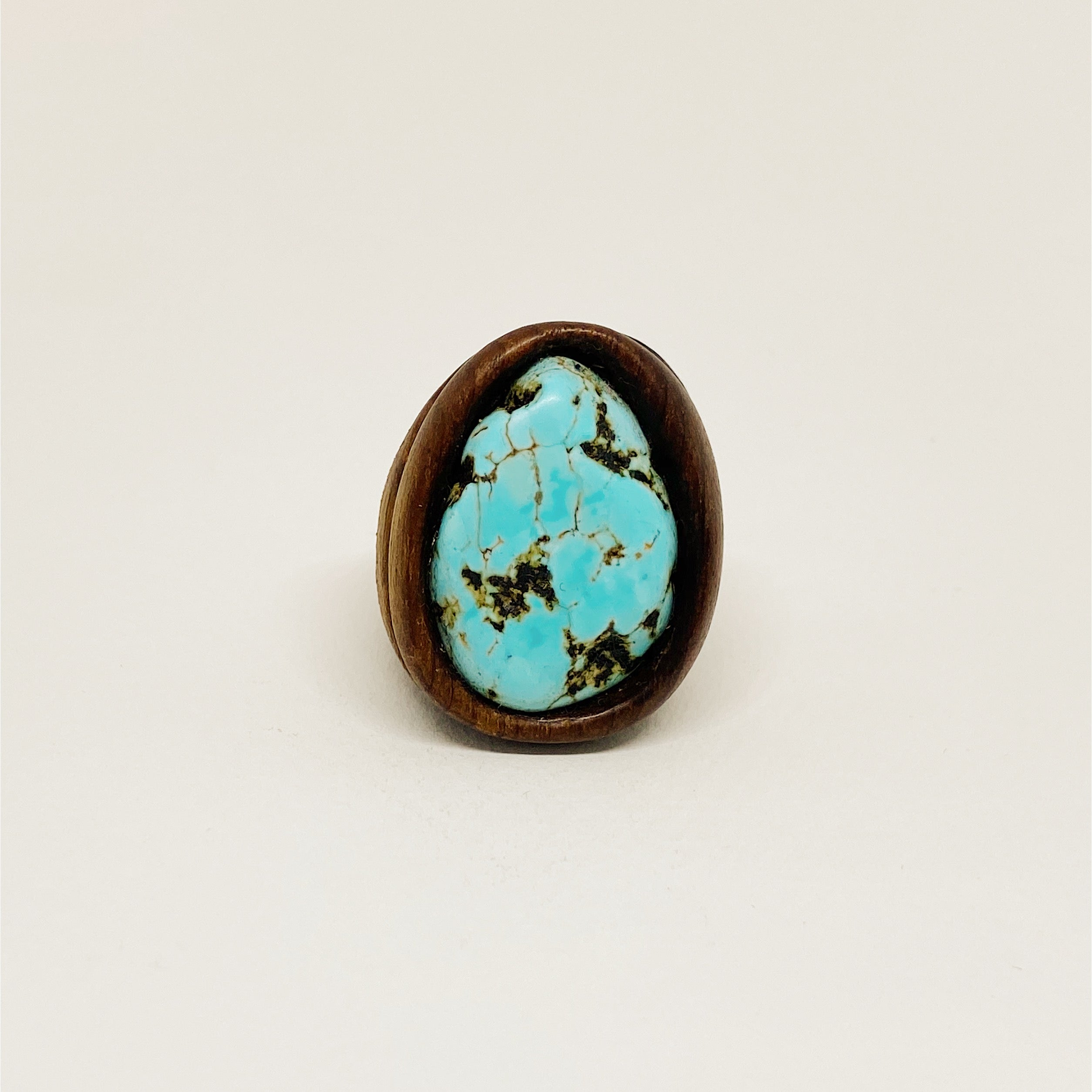 Turquoise | Wooden Ring