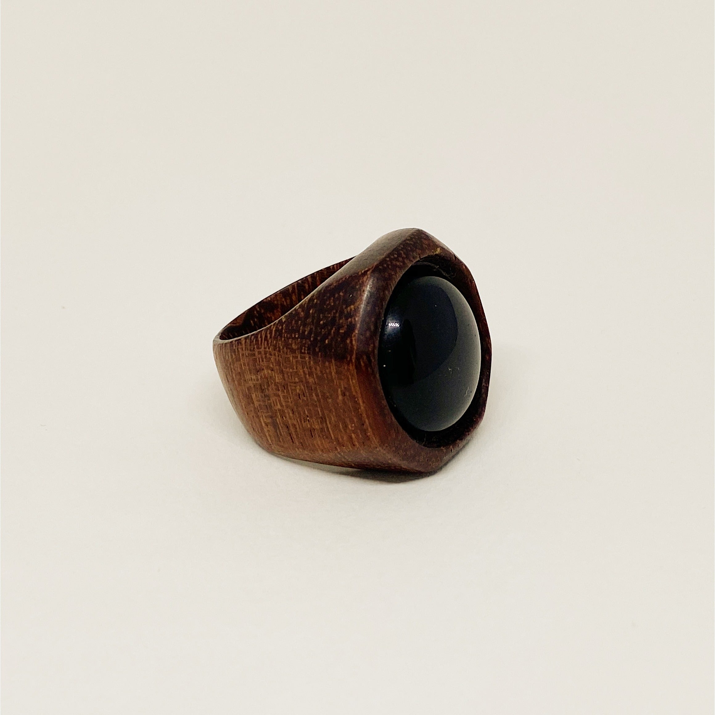 Black Onyx | Wooden Ring