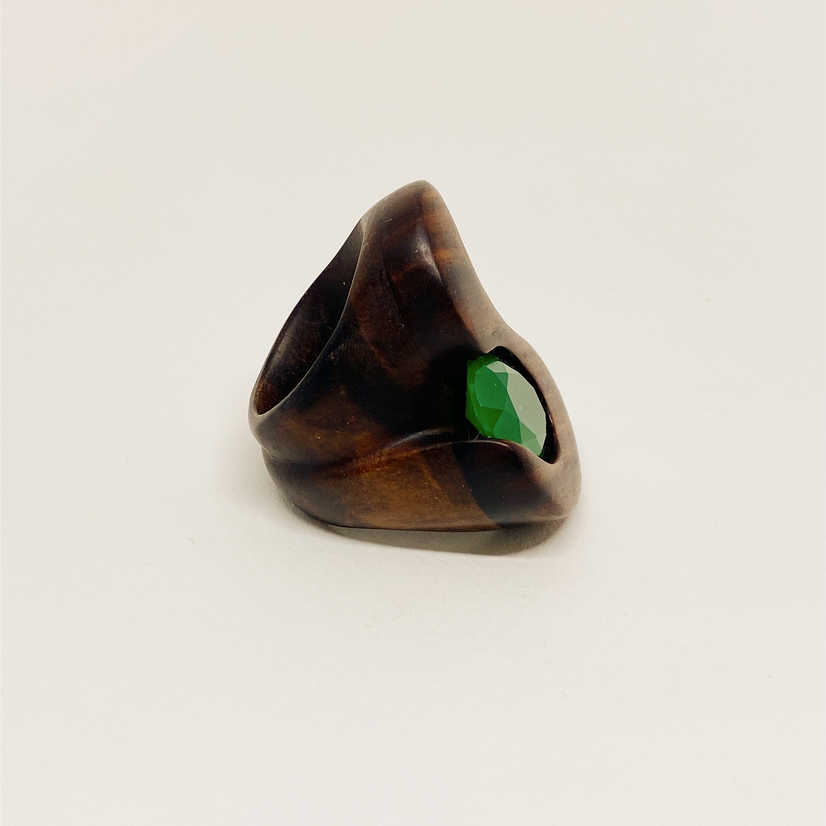 Green Jade | Wooden Ring