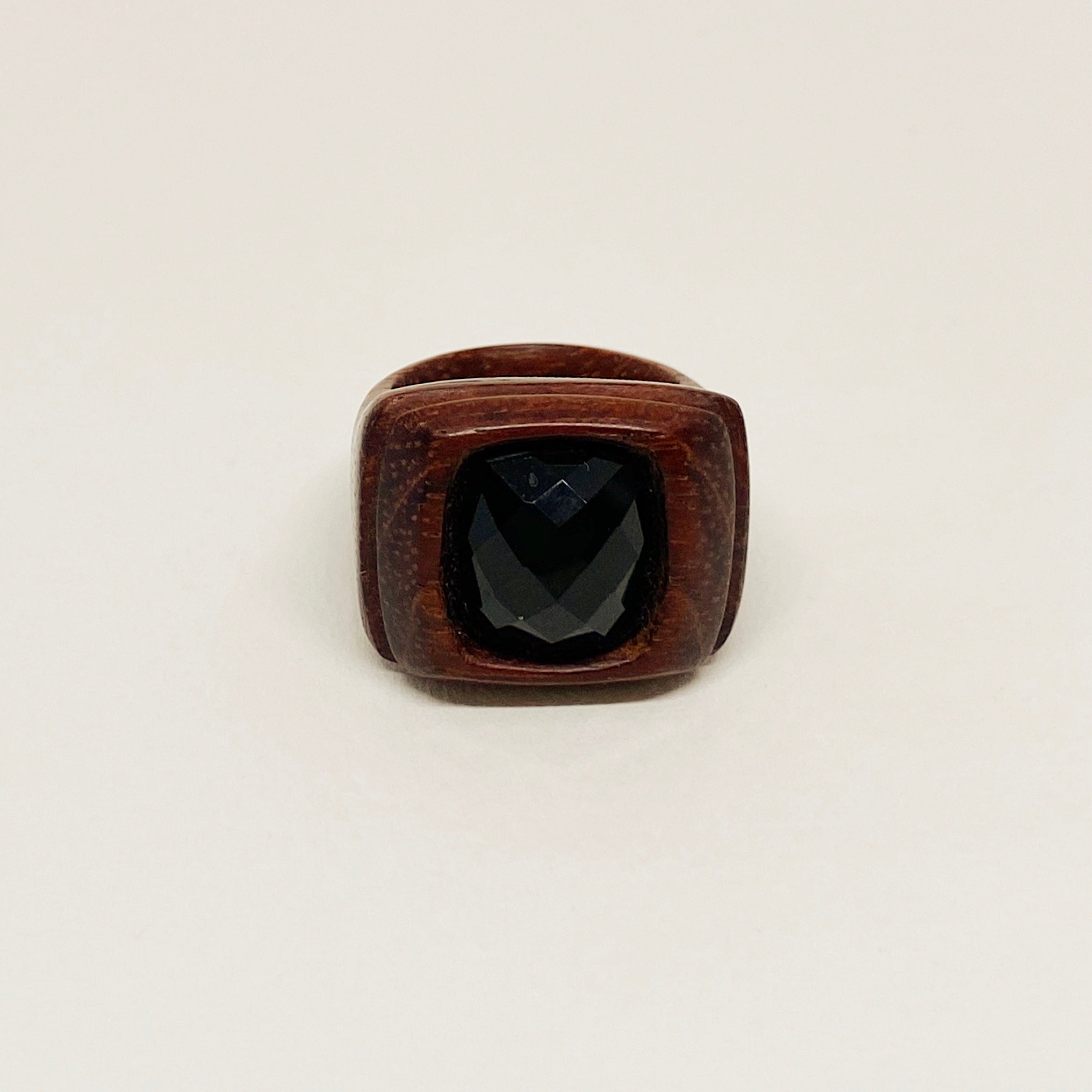 Square Black Onyx Stone Ring