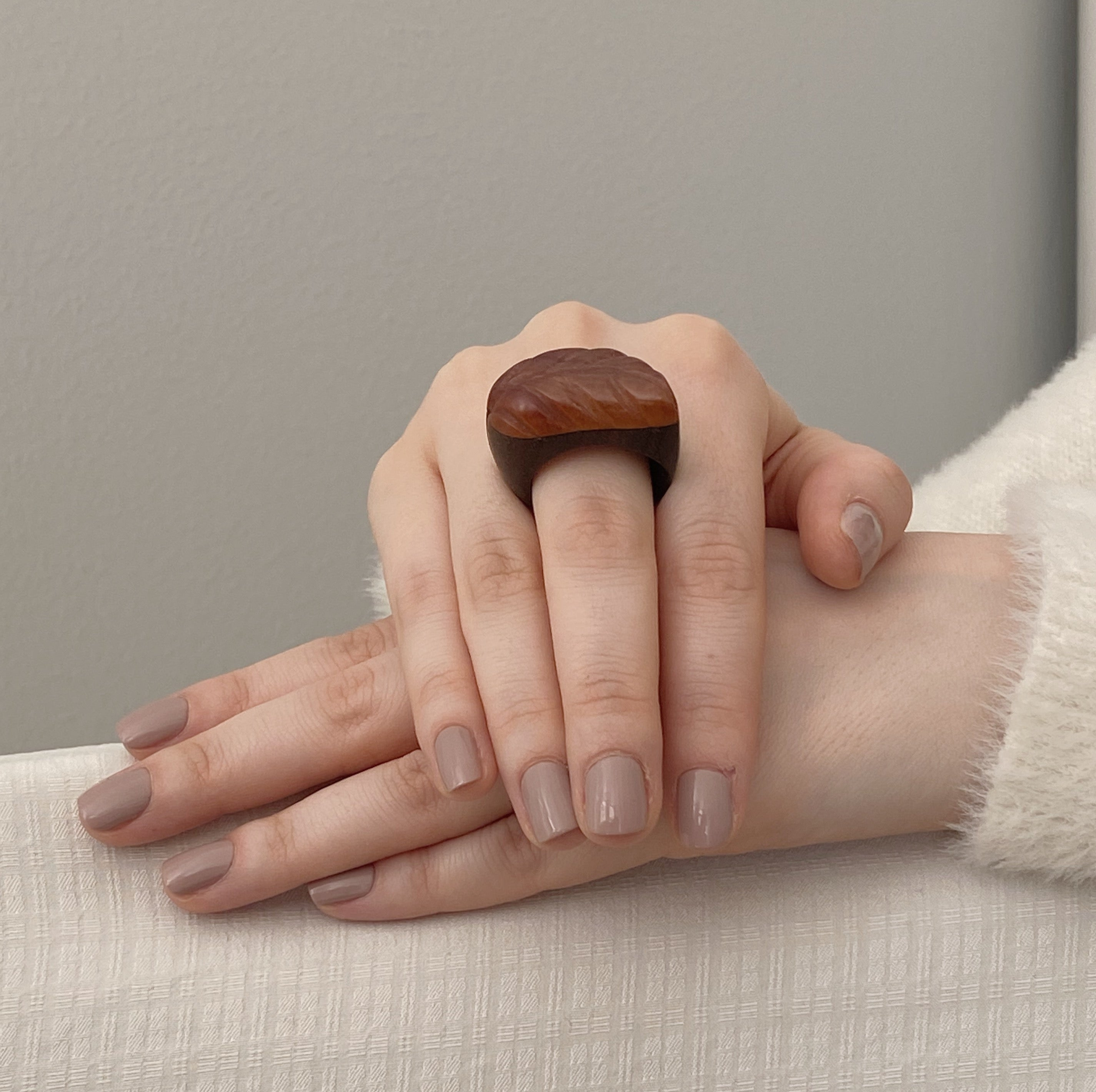 Feather | Duo Wooden Ring