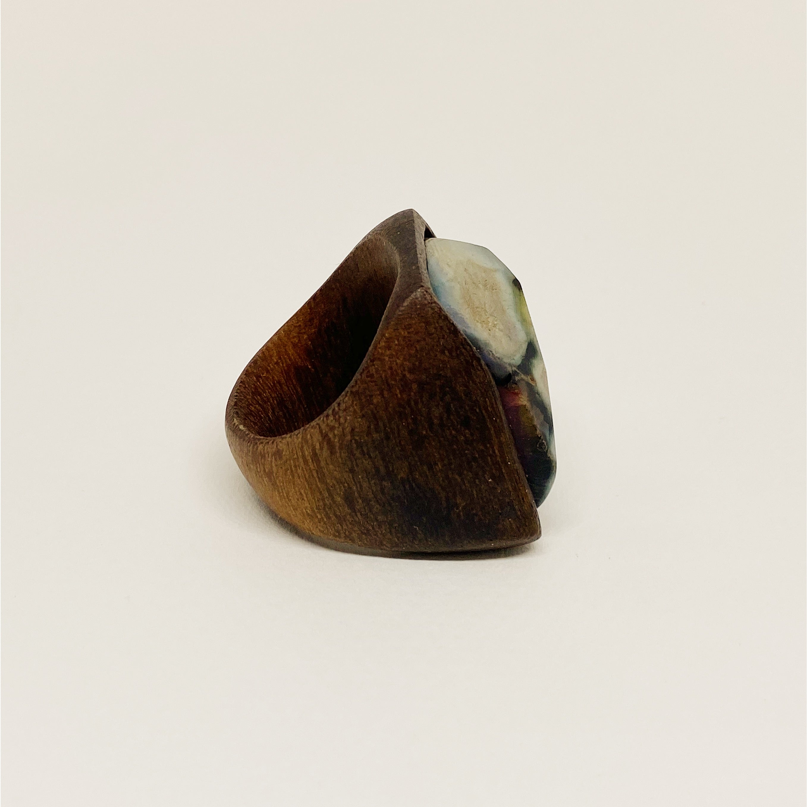 Big Agate | Wooden Ring
