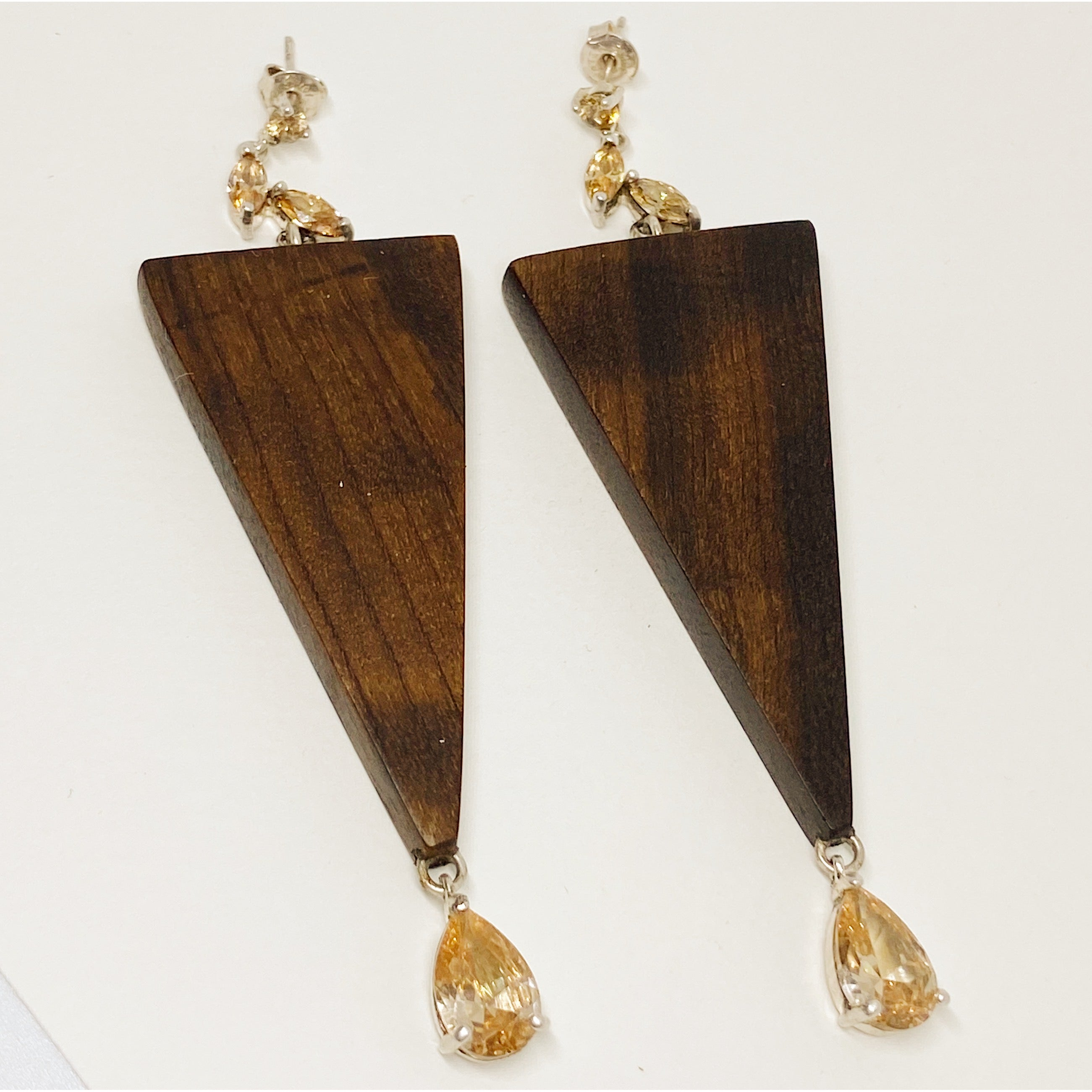 Triangle Golden Drops Earrings